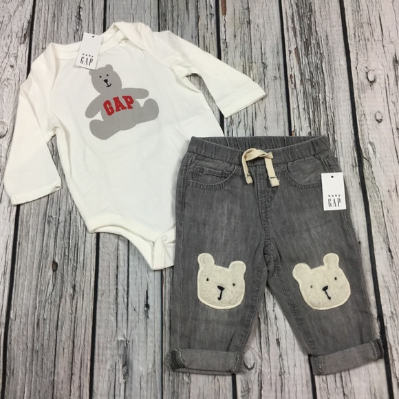 NWT BABY GAP BOYS DENIM JEANS  black   12-18m 18